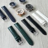 【可水洗保養 海奕施 HIRSCH】小牛皮壓紋錶帶 Duke M L 加厚款 深藍/綠/白/黑色  附工具 (雙數尺寸)