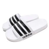 adidas 拖鞋 Adilette Shower 白 黑 運動拖鞋 男鞋 女鞋 涼拖鞋 舒適好穿【PUMP306】 AQ1702