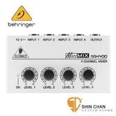 【缺貨】Behringer MICROMIX MX400 口袋型四軌混音器單聲道輸出【MX-400】