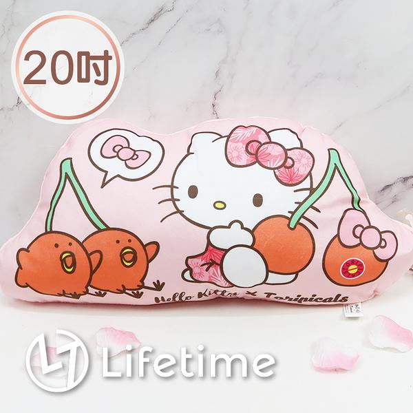 ﹝Kitty熱帶水果鳥造型抱枕20吋﹞正版 娃娃 抱枕 靠墊 凱蒂貓 50cm〖LifeTime一生流行館〗