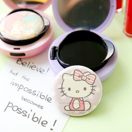 正版三麗鷗氣墊粉餅專用粉撲(附收納袋) Hello Kitty 凱蒂貓 雙子星 kiki&lala 氣墊粉撲 氣墊粉餅 粉撲