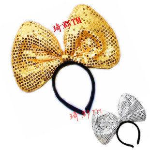 COS米老鼠耳朵 誇張珠片 蝴蝶結2個價