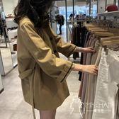外套  秋季外套2018新款女風衣女中長款韓國寬松矮個子港風外套薄款
