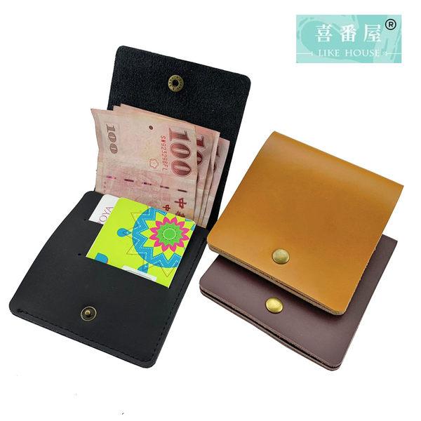【喜番屋】真皮牛皮可裝40張鈔票輕薄男士皮夾皮包錢夾鈔票夾錢包卡片包卡片夾卡夾男夾【LH524】