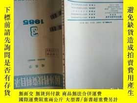 二手書博民逛書店國外科技資料目錄罕見地質學 1985 3Y18256