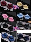 ★依芝鎂★K737領結尖角帶黑鑽高質感領結結婚領結新郞領結派對糾糾,售價250元
