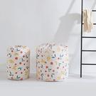 花漾圓筒棉被收納袋(大90x45cm) 束口 搬家 櫥櫃 防水 棉被罩 衣物 被單 枕頭【Z166】米菈生活館