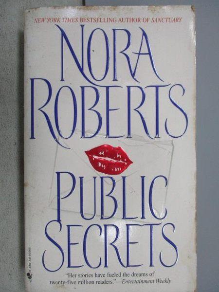 【書寶二手書T6/原文小說_MSA】Public Secrets_Nora Roberts