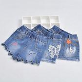 女童牛仔短褲9-11周歲中大童薄款新款正韓兒童褲子小女孩外穿三角衣櫥