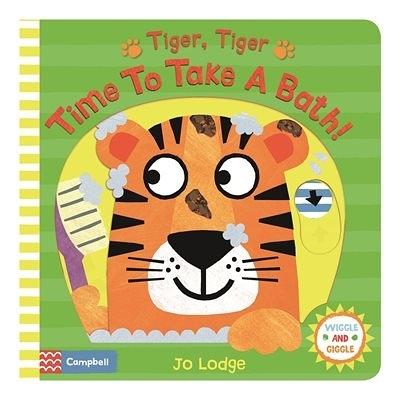 Tiger, Tiger Time To Take A Bath! 老虎,老虎洗澡囉! 推拉硬頁書