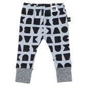 澳洲Huxbaby 淺藍字母有機棉休閒內搭長褲HB301