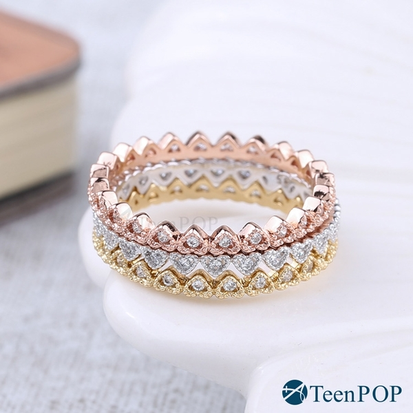 925純銀戒指 ATeenPOP 甜蜜時代 尾戒 線戒 愛心 情人節禮物
