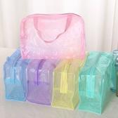 現貨-韓風旅行收納袋拉鏈包 碎花PVC防水化妝品包洗漱沐浴用品收納袋【H011】『蕾漫家』