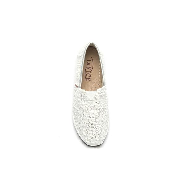 JANICE-柔軟立體花布增高休閒鞋352020-45銀