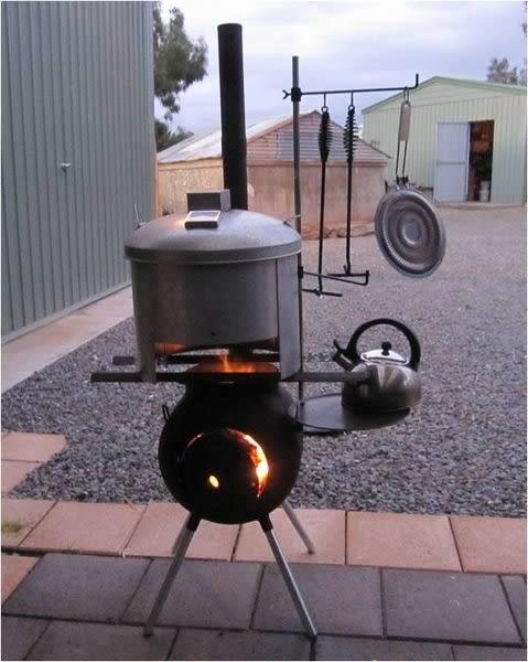 丹大戶外【OzPig】澳洲 黑皮豬專用料理工具吊架/室外廚房燒烤爐/取暖爐灶/壁爐/BBQ焚火台
