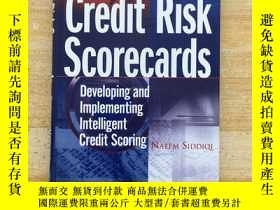 二手書博民逛書店Credit罕見Risk Scorecards:Developing and Implementing Intel