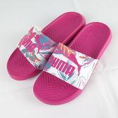 【iSport愛運動】 PUMA POPCAT FLOWER POWER WNS 拖鞋 正品 36942302 女款 粉