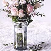 小清新富貴竹花瓶文藝玻璃透明北歐玫瑰百合花瓶擺件客廳插花 走心小賣場