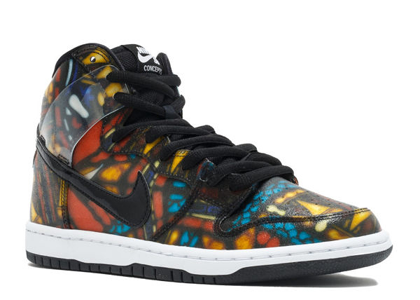 Nike X Concepts Dunk High Premium SB Stained Glass 教堂窗花 Skateboarding Shoes 滑板鞋