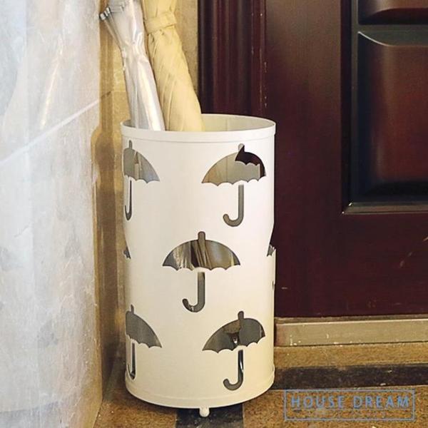 雨傘架 創意雨傘桶家用歐式鐵藝雨傘架商用酒店大堂雨傘收納桶放置架子