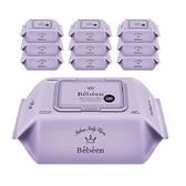 【南紡購物中心】【Bebeen】加厚版保濕嬰兒濕紙巾 (80抽/包/紫色) 10包入