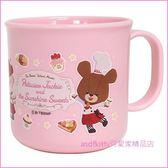 asdfkitty可愛家☆小熊學校粉紅色塑膠水杯/學習杯/漱口杯-200ML-日本製