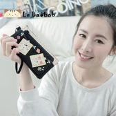 手機袋~雅瑪小舖日系貓咪包 啵啵貓紀念照雙層手機袋/拼布包包