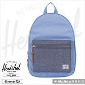 Herschel 後背包 Grove X-Small 丹寧/紫陽花藍 休閒後背包 Grove XS-1847 MyBag得意時袋