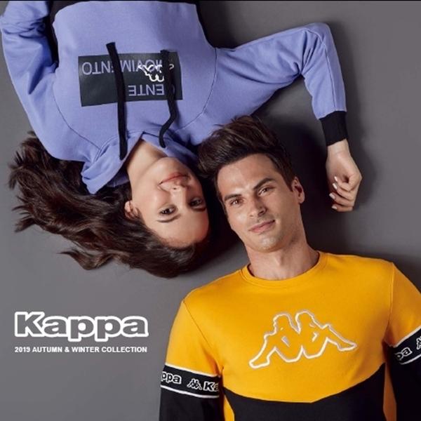 KAPPA義大利 時尚吸濕排汗型男長袖POLO衫丈青431162WB29