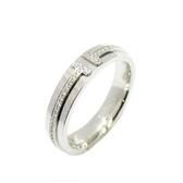 Tiffany & Co 蒂芬妮 Tiffany T 系列 18K白金窄版鑽石戒指 【二手名牌 BRAND OFF】