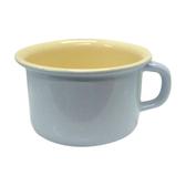 【奧地利RIESS】琺瑯寬口馬克杯10cm / 0.4L咖啡杯/琺瑯杯(淺藍色)