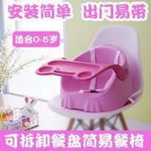 兒童餐桌椅便攜寶寶餐椅外出簡易飯桌可折疊1-3歲兒童吃飯座椅嬰兒餐桌椅子jy限時特惠下殺8折