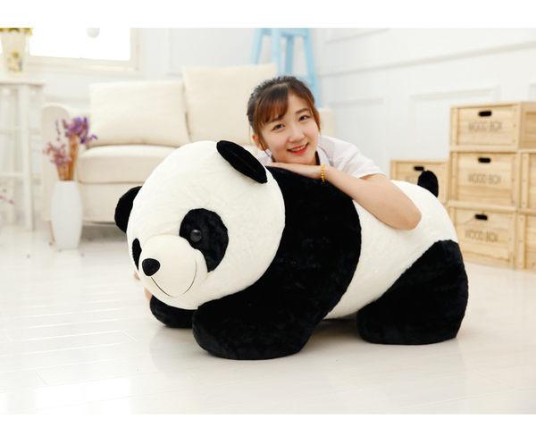 可愛趴姿大熊貓毛絨玩具熊貓公仔布娃娃玩偶送兒童女生創意禮物20cm