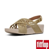 【FitFlop】LULU WICKER WEAVE BACK-STRAP SANDALS(黃金色)限時回饋6折