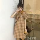 小個子日系法式洋裝裙子2020年新款夏天格子學生甜美初戀裙鹽系 米娜小鋪