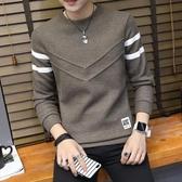 長袖T恤男 男士長袖t恤圓領打底衫男裝春季新款潮流韓版修身秋衣上衣服