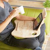 全實木筆記本電腦桌懶人桌可折疊學生桌沙發床上用小桌子休閒小桌WY【聖誕交換禮物】