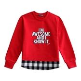 『小鱷魚童裝』假兩件式T恤(02號~10號)556436