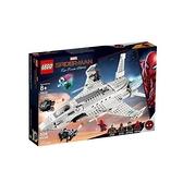 【南紡購物中心】【LEGO 樂高積木】超級英雄系列 -Marvel 離家日 史塔克噴射機 & 無人機攻擊76130