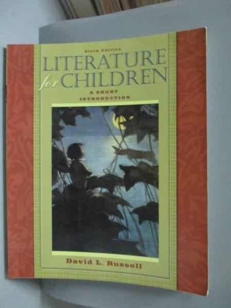 【書寶二手書T8/原文書_QIY】Literature for Children-A Short Introductio