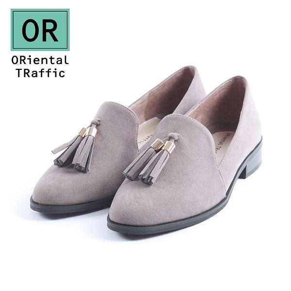 【ORiental TRaffic】經典俏皮流蘇樂福鞋-質感灰