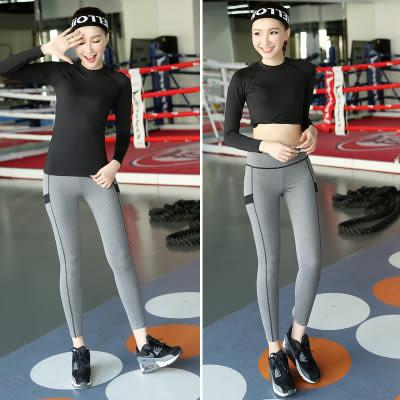 韓國瑜伽服套裝新款夏健身服女修身顯瘦健身房運動服跑步服速幹  - lxy001011