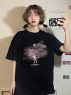 短袖T恤 2021年新款韓版印花短袖T恤女裝ins夏季寬鬆黑色上衣小眾打底衫潮 寶貝寶貝計畫 上新