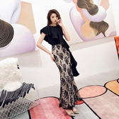 禮服洋裝 黑色女時尚氣質名媛高端大氣法國小眾洋氣宴會優雅仙 - 紓困振興~~全館免運