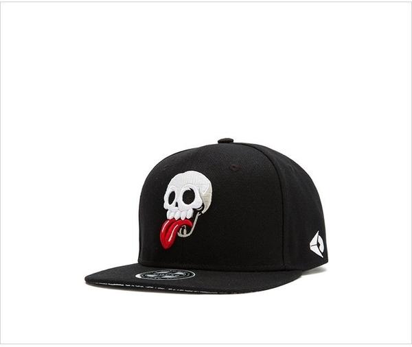 FIND 韓國品牌棒球帽 男 街頭潮流 骷髏頭鬼臉刺繡 歐美風 嘻哈帽  街舞帽