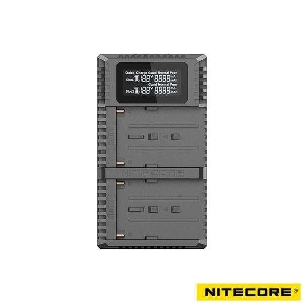 【南紡購物中心】Nitecore USN3 PRO 液晶顯示充電器 For Sony NP-F970