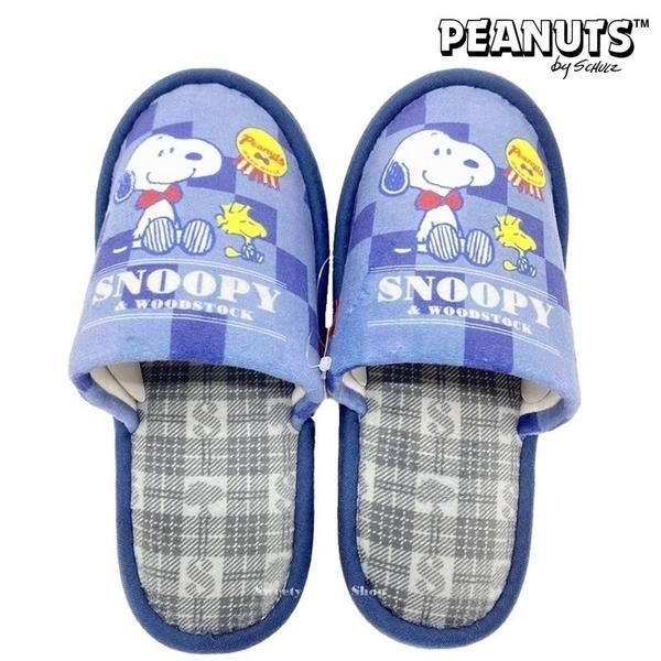 【SAS】日本限定 SNOOPY 史努比 & 糊塗踏客 格紋版 室內鞋 / 室內拖鞋 / 居家鞋