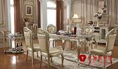 [紅蘋果傢俱] LM-208A 維西莉亞系列 餐桌全實木餐桌 桌子 (另售餐椅) 數千坪展示