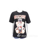 MOSCHINO 馬戲團泰迪熊黑色寬鬆版短袖T恤 1920578-01
