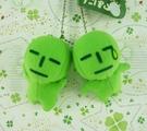 【震撼精品百貨】藍海寶寶~2入絨毛鎖圈-綠汗